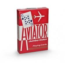 Baralho Aviator Jumbo Index  Vermelho