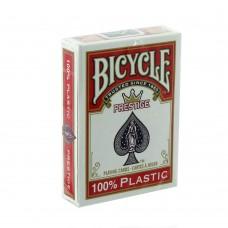 Baralho Bicycle Prestige 100% Plástico Vermelho