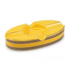 Cinzeiro de Cerâmica para 2 Charutos - Amarelo