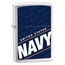Isqueiro Zippo Cromado Polido US Navy 24813