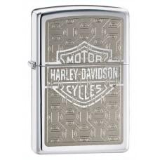 Isqueiro Zippo Cromado Harley com Logo 28083
