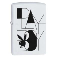Isqueiro Zippo Branco Fosco Playboy 28268