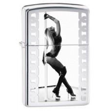 Isqueiro Zippo Cromado Polido Pole Dance 28448
