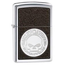 Isqueiro Zippo Cromado Polido Harley Skull 28484