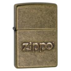 Isqueiro Zippo Bronze Antigo com Logo 28994
